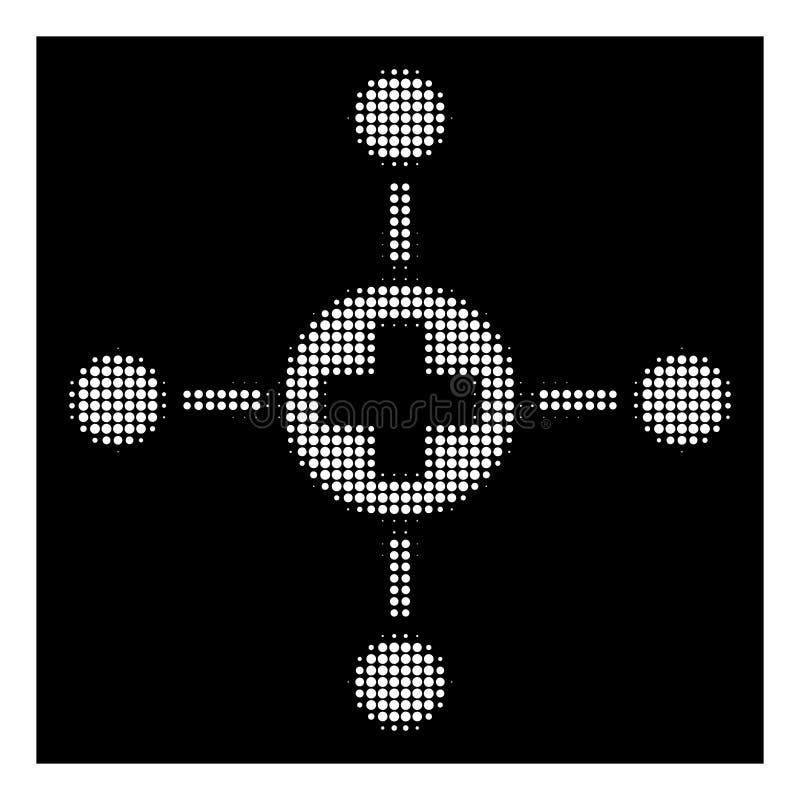 Wit Halftone Medisch Centrumpictogram vector illustratie