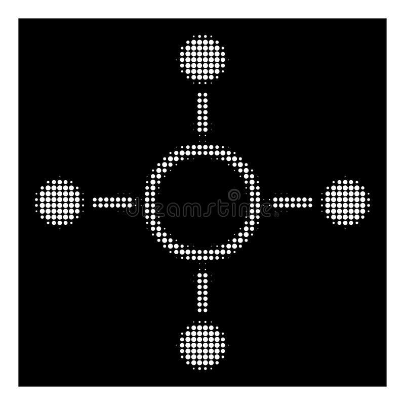Wit Halftone Radiaal Structuurpictogram stock illustratie