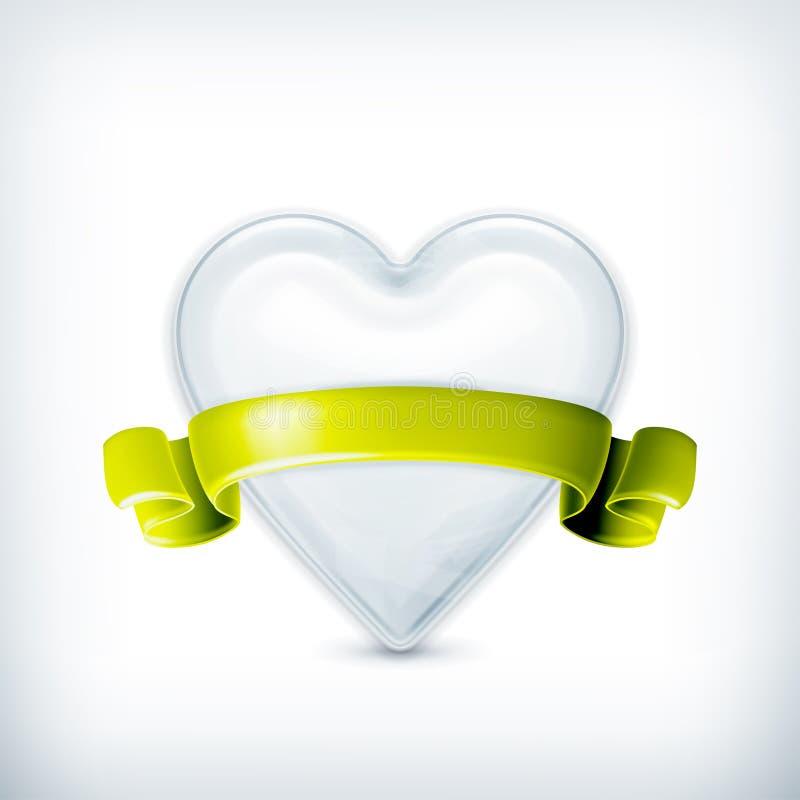 Wit hart, toekenning royalty-vrije illustratie