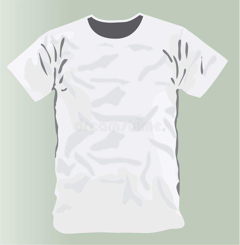 Wit het ontwerpmalplaatje van de T-shirt vector illustratie