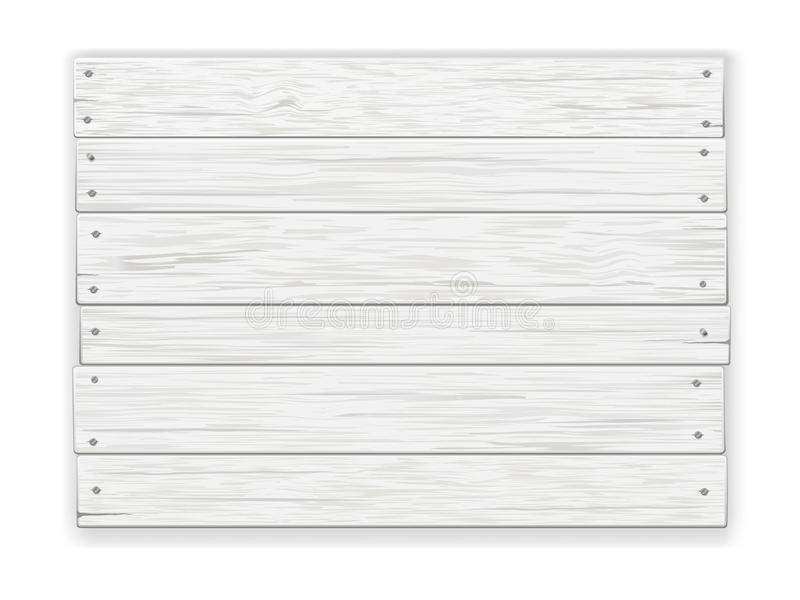 Wit houten teken royalty-vrije illustratie