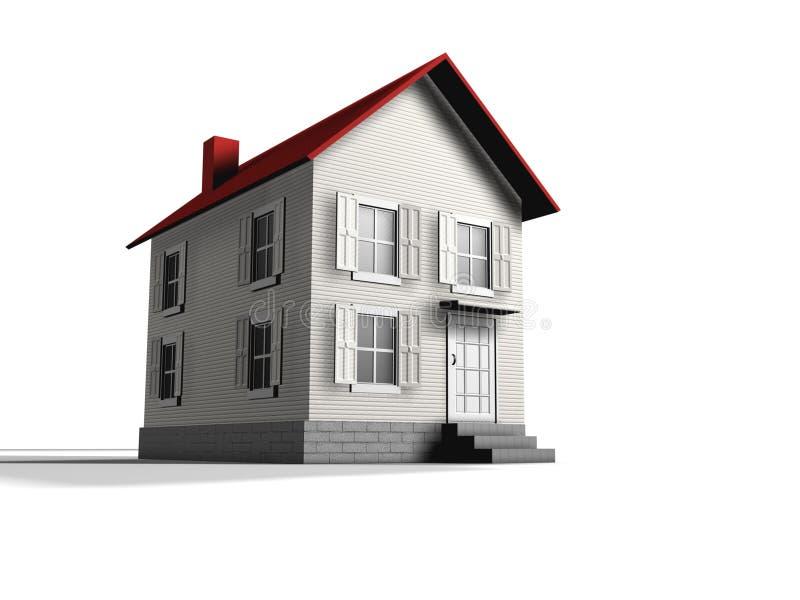 Wit huis royalty-vrije illustratie