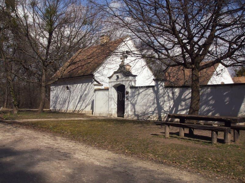 Wit huis van een landelijke villige royalty-vrije stock foto's