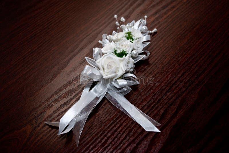Wit Huwelijksboeket Stock Foto