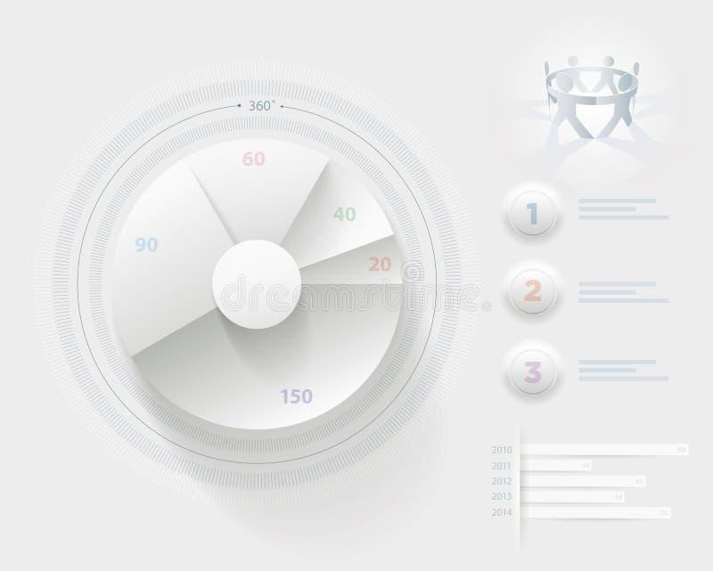 Wit Infographic-malplaatje royalty-vrije illustratie
