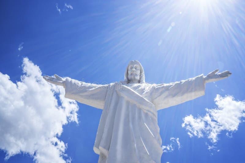 Wit Jesus Cusco Peru royalty-vrije stock afbeelding