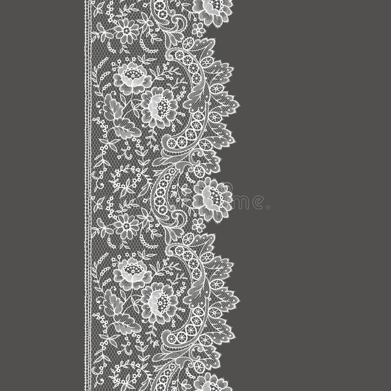 Wit kant naadloos patroon stock illustratie
