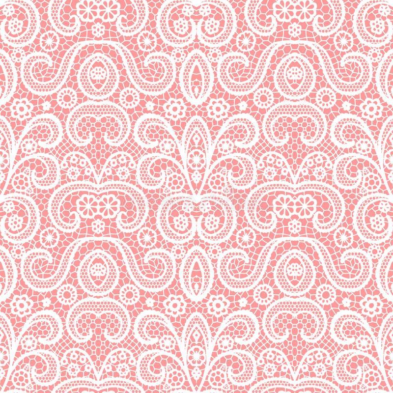 Wit kant naadloos patroon met bloemen, Uitstekend patroon royalty-vrije stock fotografie
