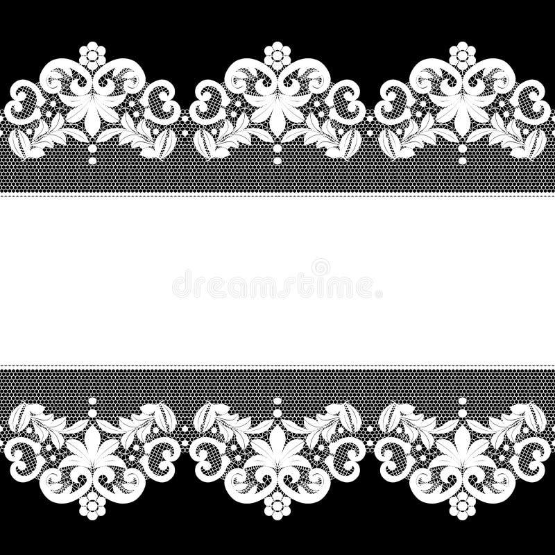 Wit kant op zwarte achtergrond royalty-vrije illustratie