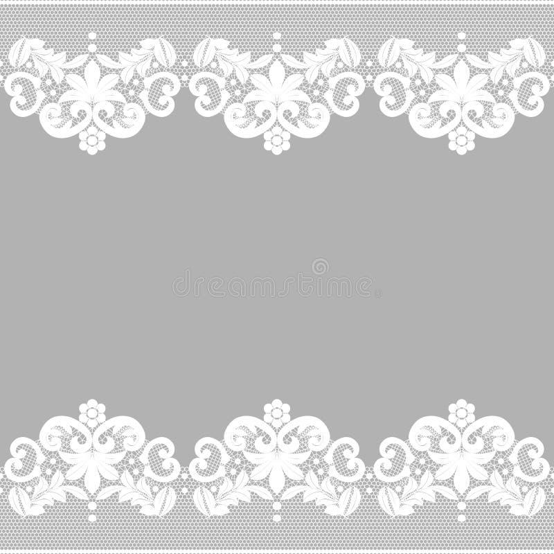 Wit kant op zwarte achtergrond stock illustratie