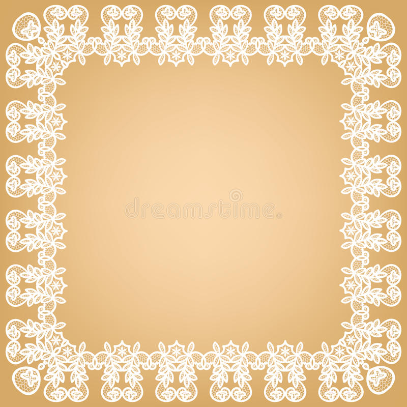 Wit kantkader royalty-vrije illustratie