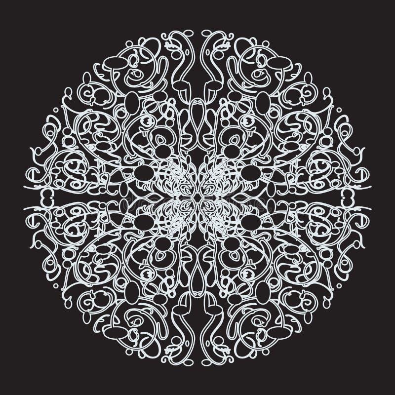 Wit kantpatroon royalty-vrije illustratie