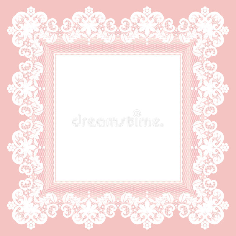 Wit kantservet stock illustratie