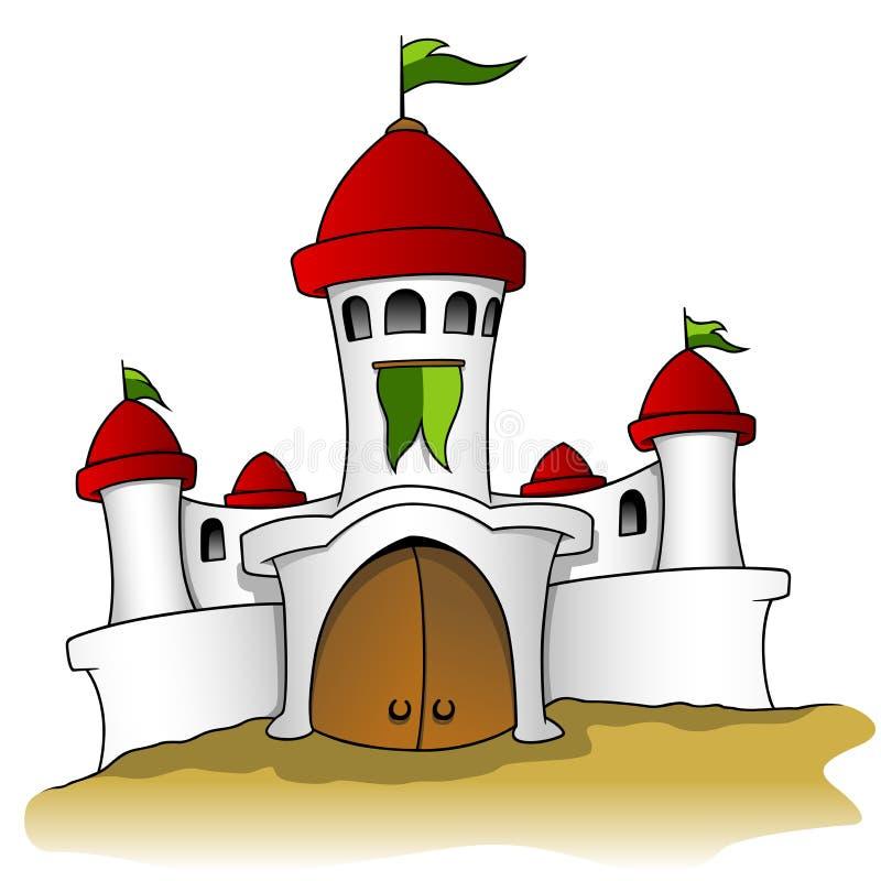Wit kasteel vector illustratie