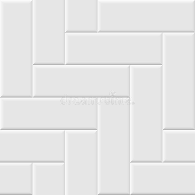 Wit keramische tegel naadloos patroon Vector naadloze achtergrond stock illustratie