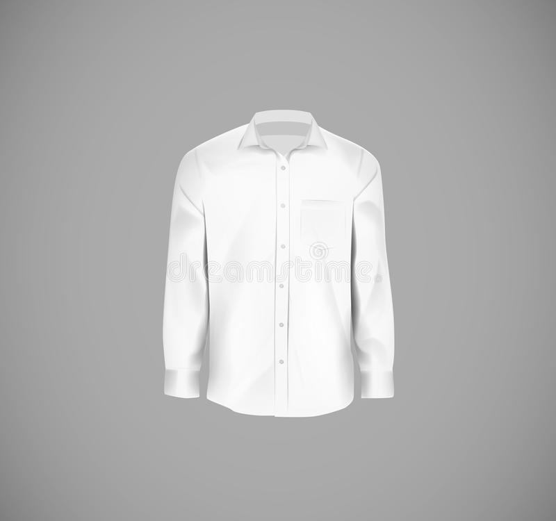 Wit kleuren formeel overhemd Leeg overhemd met knopen royalty-vrije stock foto's