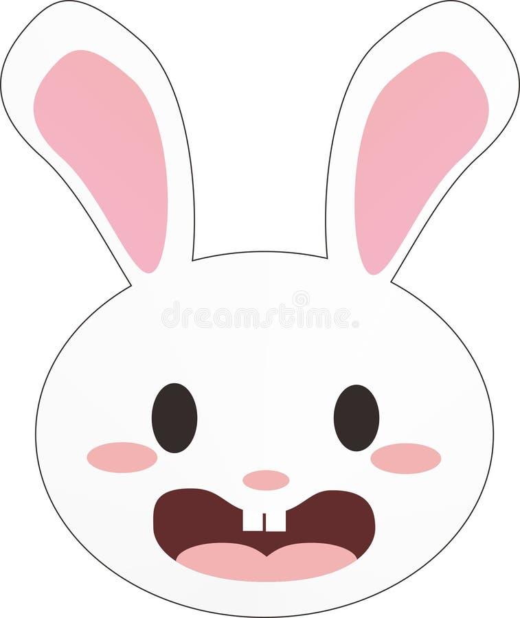 Wit konijntje royalty-vrije stock foto