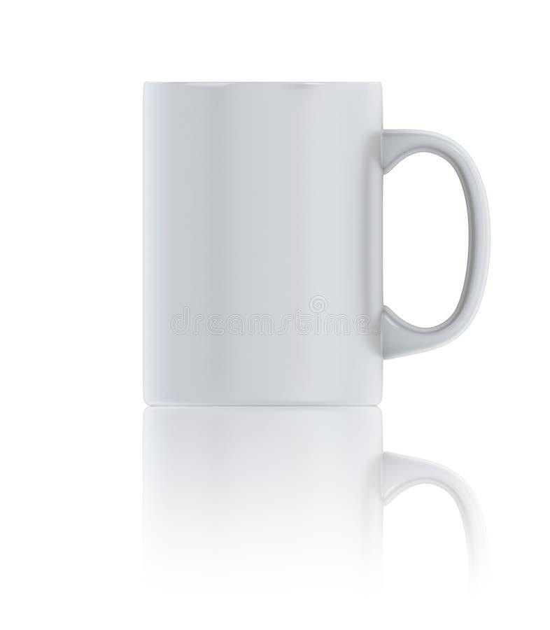 Wit kop thee vooraanzicht stock illustratie