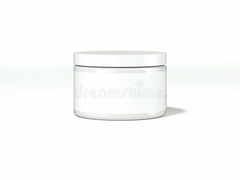 Wit kosmetisch pakket met leeg etiket het 3d teruggeven royalty-vrije illustratie