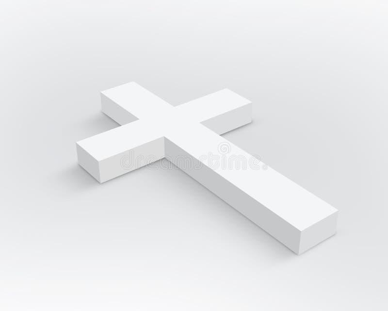 Wit Kruis vector illustratie