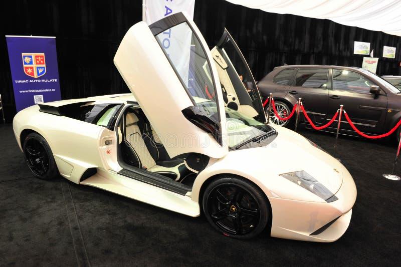 De auto toont: Lamborghini Murcielago stock foto's