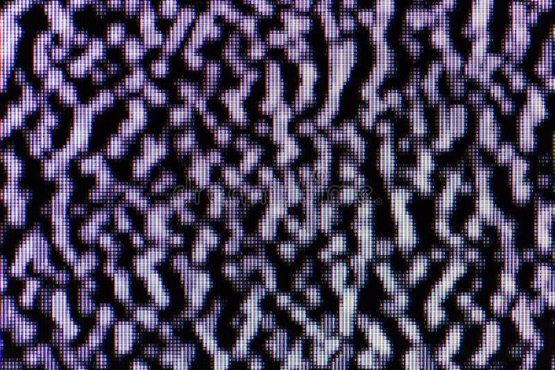 Wit lawaai op LCD TV royalty-vrije stock fotografie