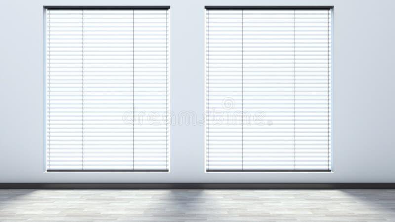 Wit leeg binnenland met zonneblinden vector illustratie