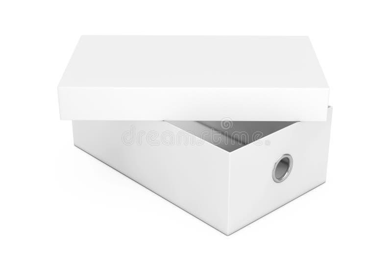 Wit Leeg de Doosmodel van de Kartonschoen voor uw Ontwerp 3d geef terug royalty-vrije illustratie