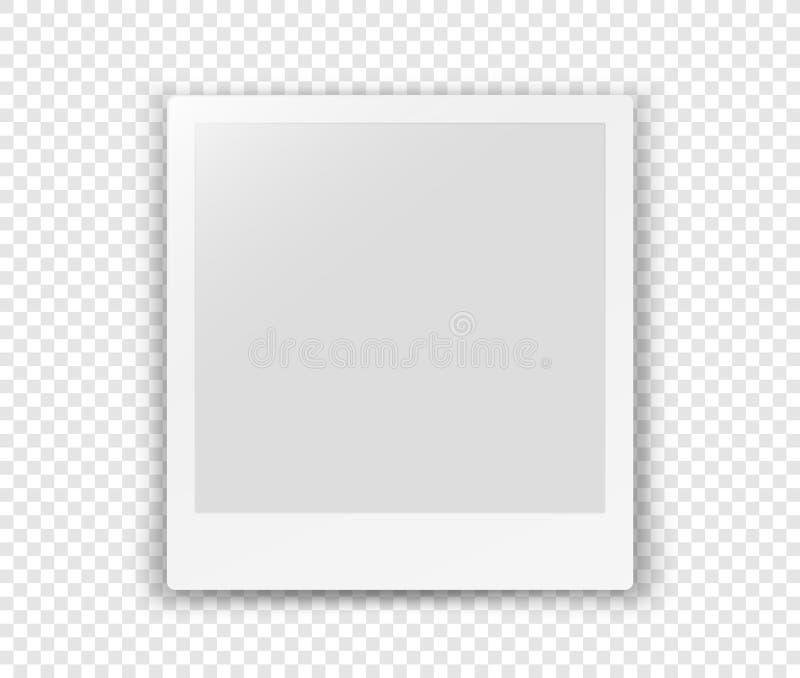 Wit leeg die kader op transparante achtergrond wordt geïsoleerd vector illustratie