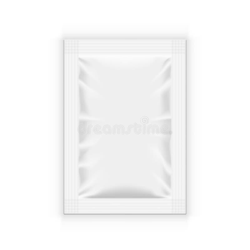 Wit Leeg Duidelijk Sachet voor Voedsel, Medisch of Schoonheidsmiddelen stock illustratie