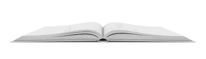 Wit leeg open boek op witte achtergrond royalty-vrije stock foto's