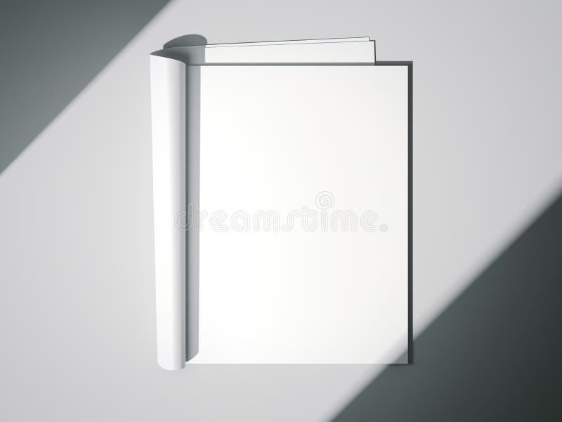 Wit leeg tijdschrift het 3d teruggeven vector illustratie