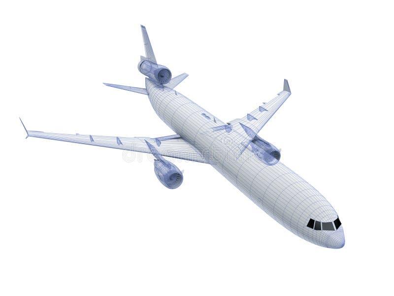 Wit Lijnvliegtuig stock illustratie