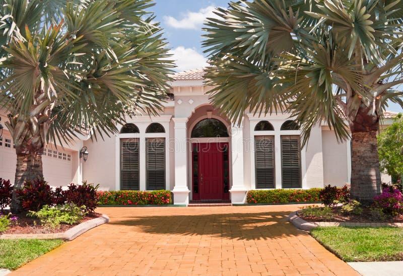 Wit Luxueus Huis stock foto