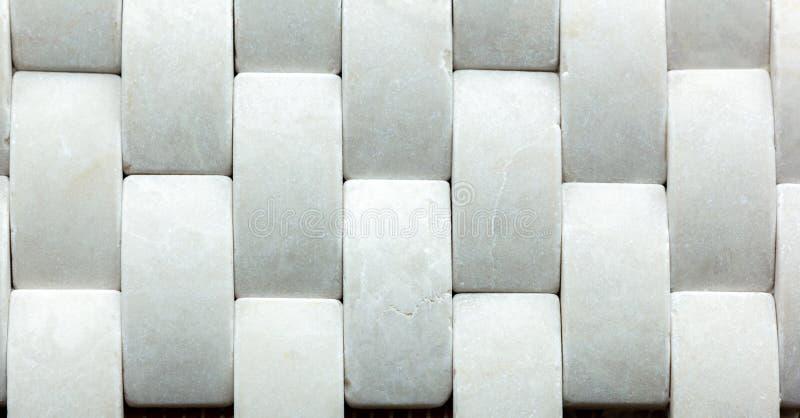 Wit marmer van rechthoek stock foto