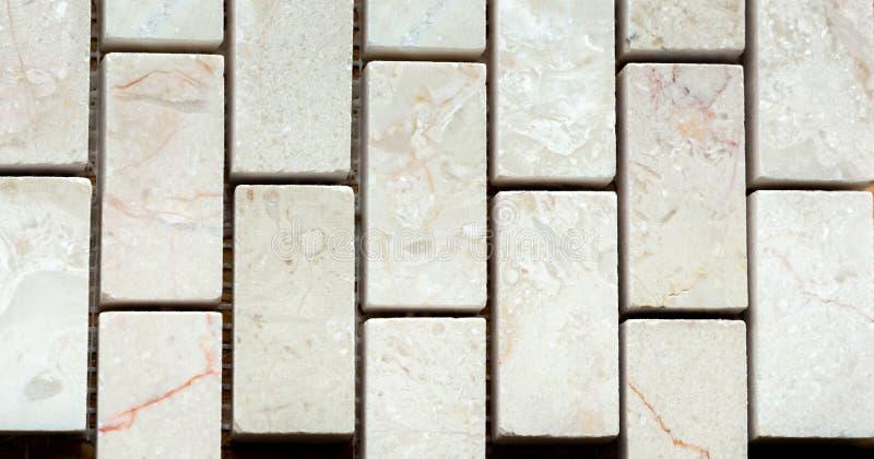 Wit marmer van rechthoek stock fotografie