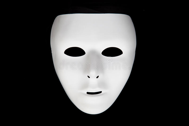 Wit masker royalty-vrije stock afbeelding