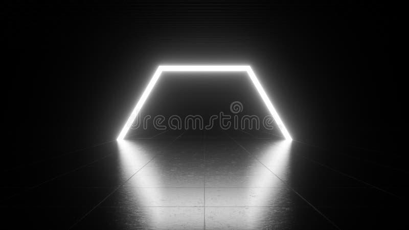 Wit neonlicht royalty-vrije illustratie