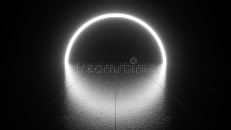 Wit neonlicht vector illustratie