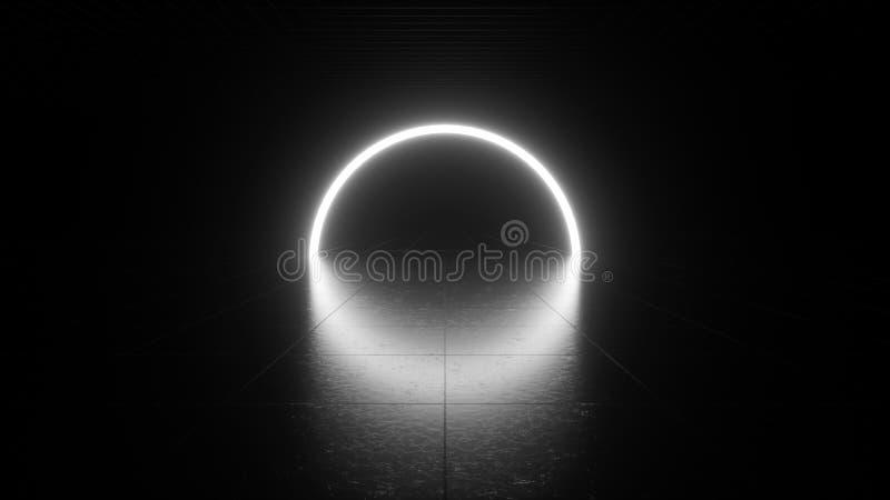 Wit neonlicht stock illustratie