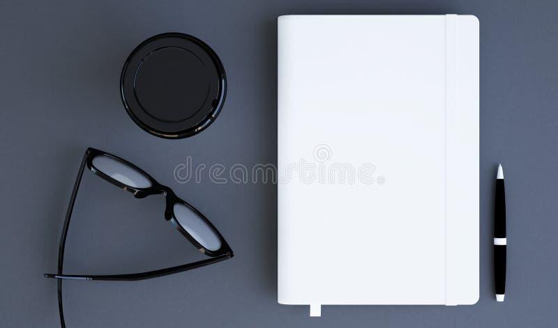 wit notitieboekjemodel royalty-vrije illustratie
