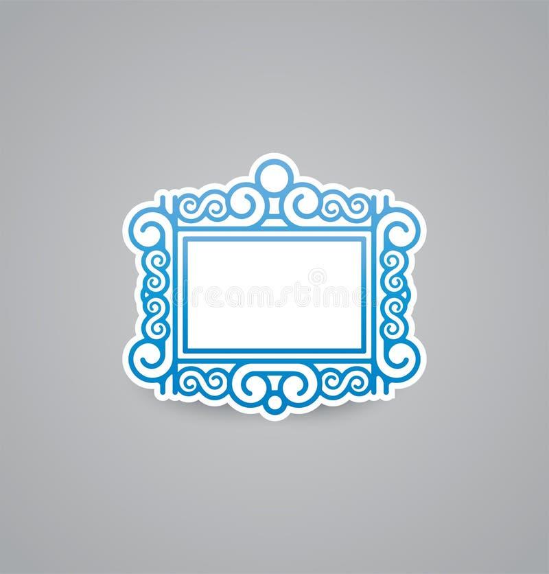 Wit omlijstingpictogram op grijze achtergrond Het vectorpictogram van de illustratieomlijsting EPS10 stock illustratie