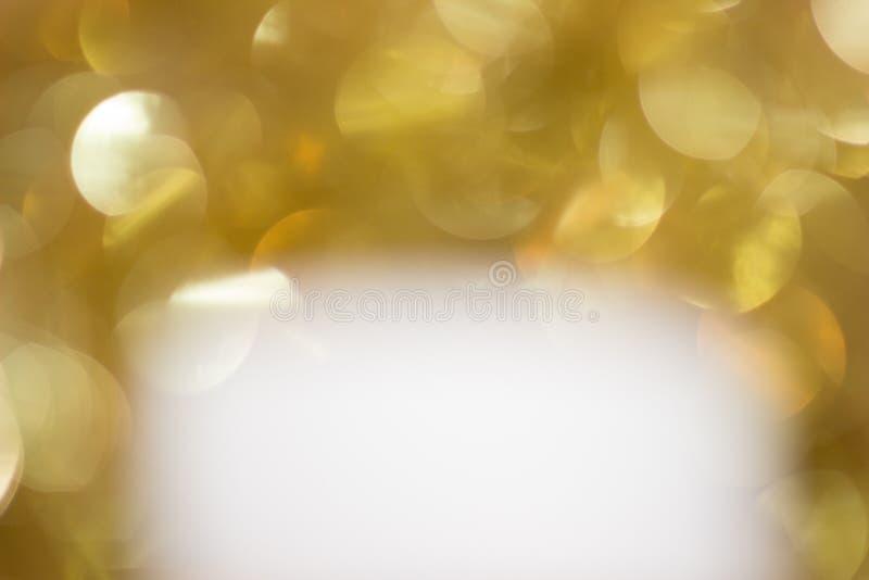 Wit onder gouden fonkelingen royalty-vrije stock afbeelding