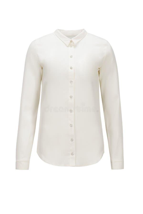 Wit overhemd voor geïsoleerd brandmerken stock afbeelding