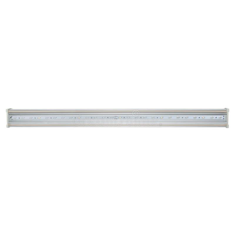 Wit paneel met led-lampjes Energiebesparend begrip voor elektrische efficiëntie LED-lamp nieuwe technologie voor Smart, ECO City royalty-vrije stock foto