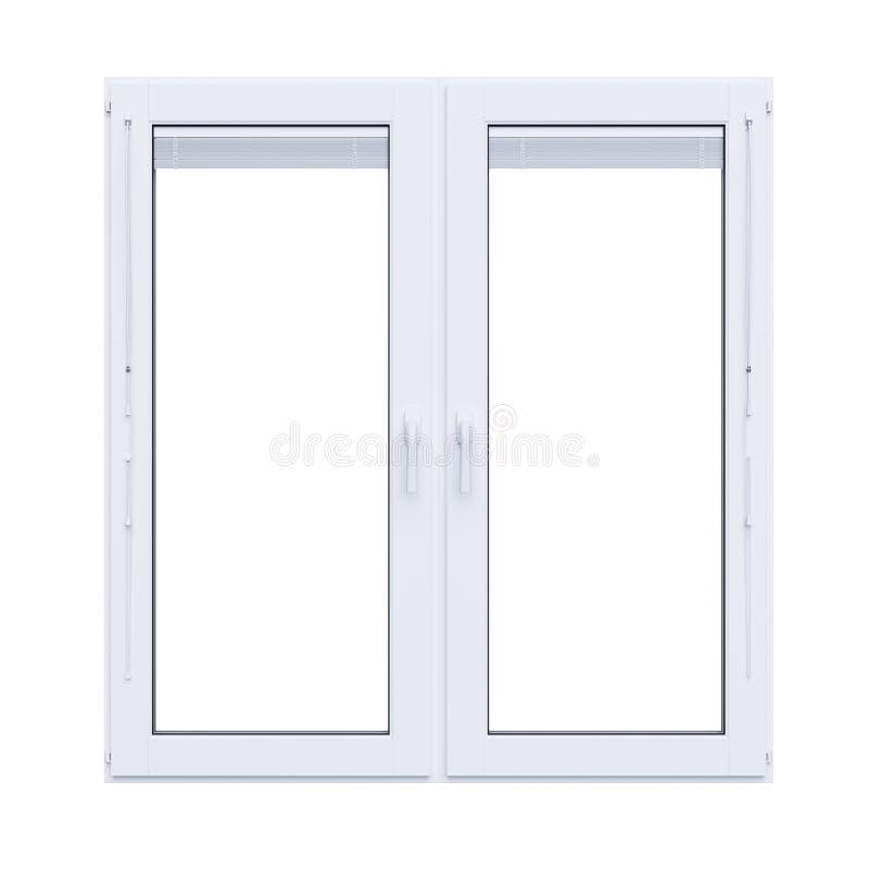 Wit plastic geïsoleerd venster royalty-vrije illustratie