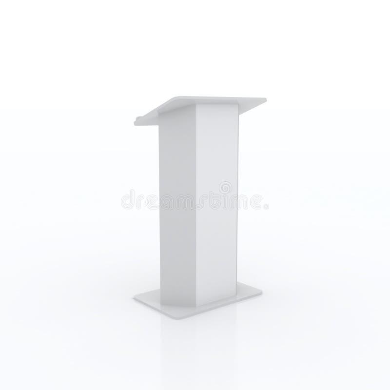 Wit podium vector illustratie