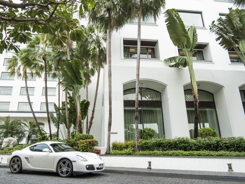 Wit Porsche royalty-vrije stock fotografie