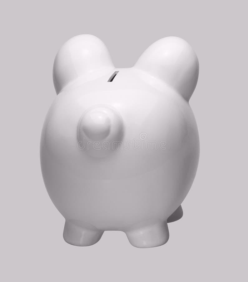 Wit Porselein Piggybank Royalty-vrije Stock Afbeeldingen