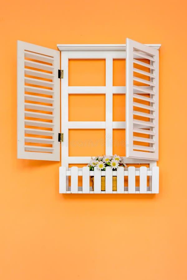 Wit raamkozijn stock fotografie